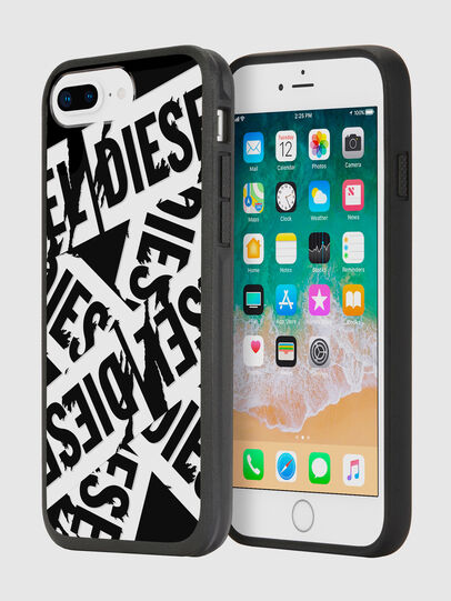 Diesel - MULTI TAPE BLACK/WHITE IPHONE 8 PLUS/7 PLUS/6S PLUS/6 PLUS CASE, Black - Cases - Image 1