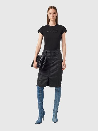 Diesel - D-PAU-SP JOGGJEANS, Black - Skirts - Image 4