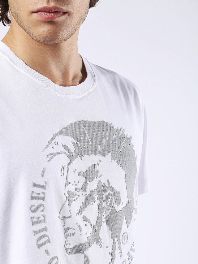 Diesel - T-DIEGO-FO, White/Silver - T-Shirts - Image 5
