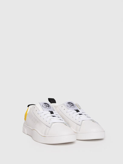 Diesel - S-CLEVER LOW W, White/Yellow - Sneakers - Image 2