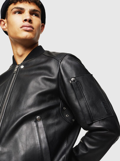 Diesel - L-JOSEPH, Black - Leather jackets - Image 4