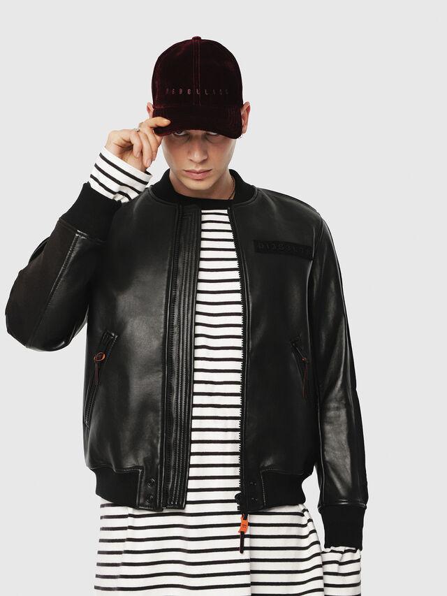 Diesel - L-YUTAKIS, Black - Leather jackets - Image 1