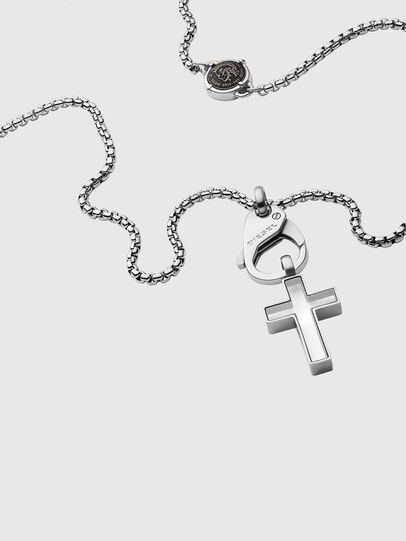Diesel - DX1252, Silver - Necklaces - Image 2