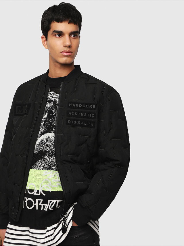 Diesel - W-TANAKA, Black - Winter Jackets - Image 1