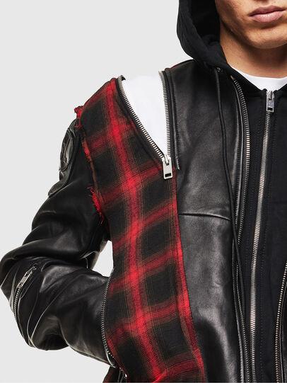 Diesel - L-NORMAN, Black - Leather jackets - Image 6