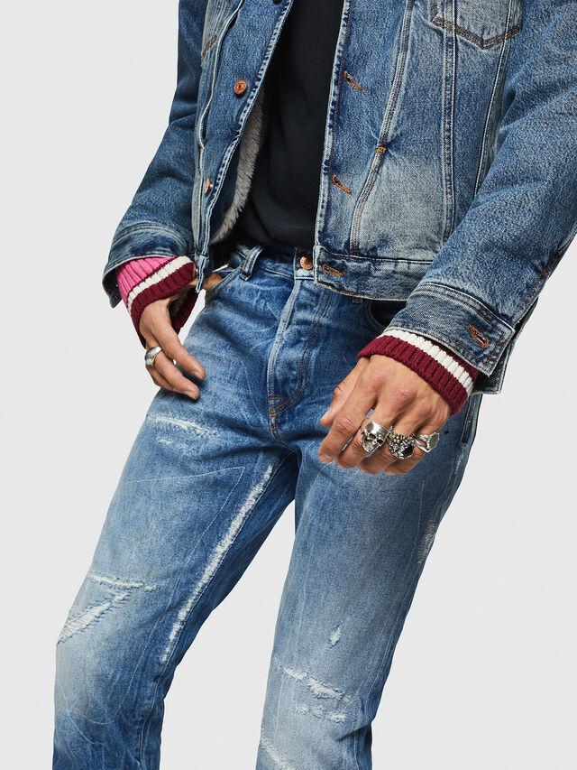 Diesel - Mharky 0078B, Dark Blue - Jeans - Image 4