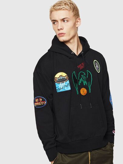 Diesel - S-ALBY-PATCHES, Black - Sweaters - Image 1