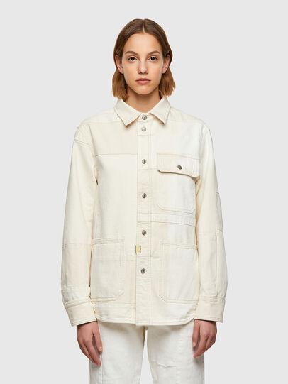 Diesel - D-HORUS-SP, White - Denim Shirts - Image 2