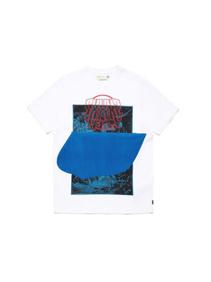 D-SHIELD-BLU, White - T-Shirts