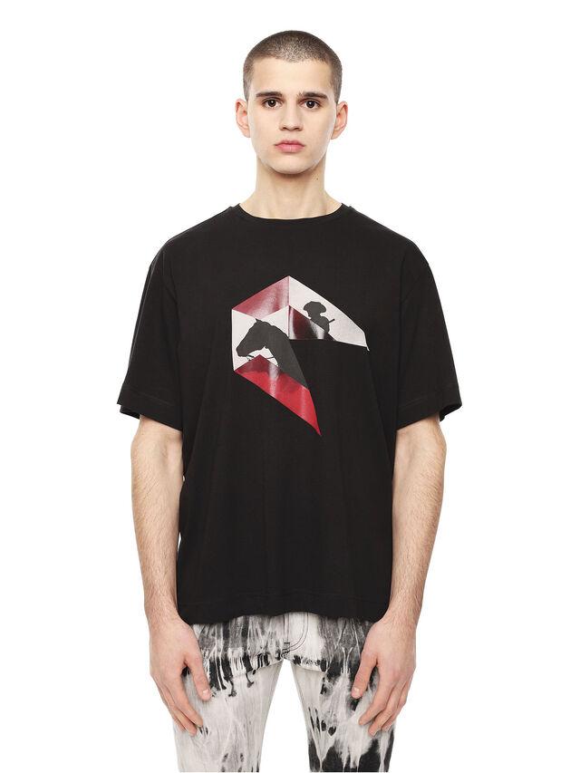 Diesel - TEORIAL-HUNTING, Black - T-Shirts - Image 1