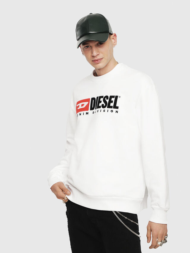 Diesel - S-CREW-DIVISION, White - Sweaters - Image 1