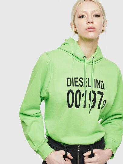 Diesel - F-ANG-HOOD-J1, Green Fluo - Sweaters - Image 4