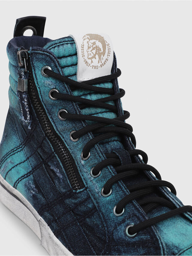 Diesel - D-VELOWS MID LACE, Turquoise - Sneakers - Image 5