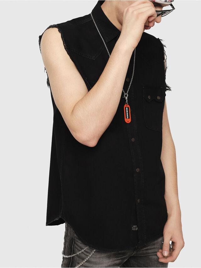 Diesel - D-KIRU, Black - Denim Shirts - Image 1