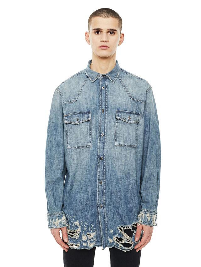 Diesel - SUVER-D, Blue Jeans - Shirts - Image 1