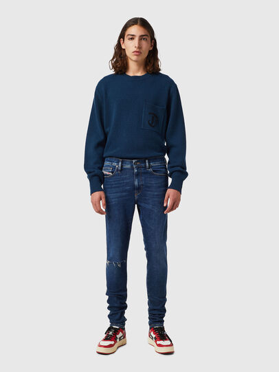 Diesel - D-Istort 09B31, Dark Blue - Jeans - Image 4