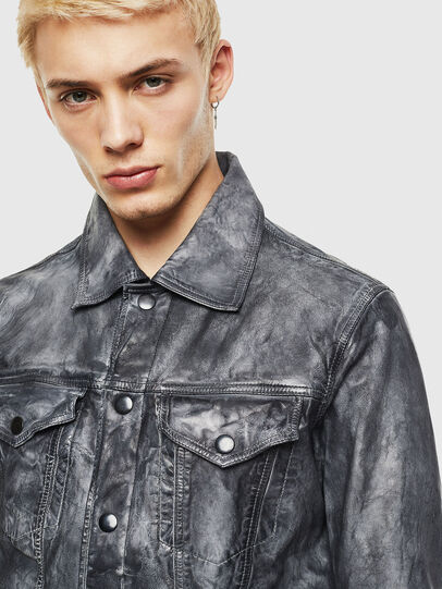 Diesel - L-NHILL, Black - Leather jackets - Image 3
