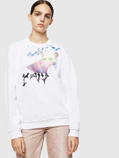 Diesel - F-LYANY-G, White - Sweaters - Image 1