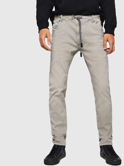 Diesel - Krooley JoggJeans 0670M, Light Grey - Jeans - Image 1