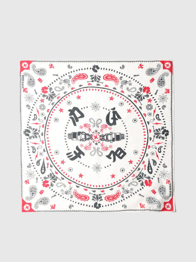 Diesel - S-BANDY, White/Red - Scarf - Image 2