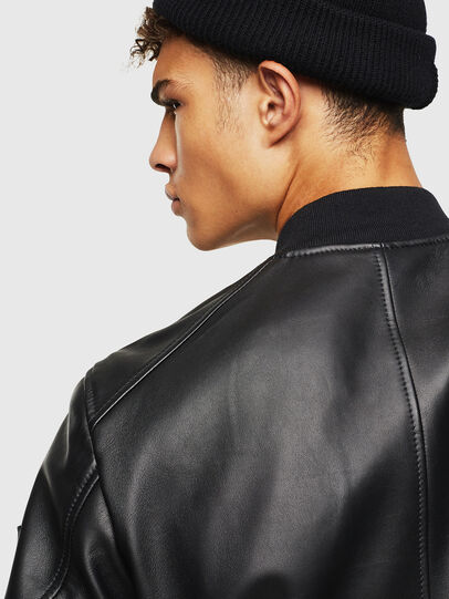 Diesel - L-JOSEPH, Black - Leather jackets - Image 5