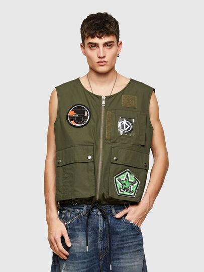 Diesel - J-LUKI, Olive Green - Jackets - Image 1