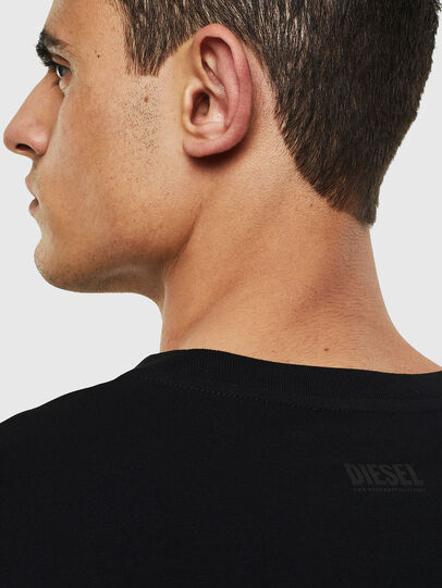 Diesel - T-JUST-LS-T13, Black - T-Shirts - Image 4