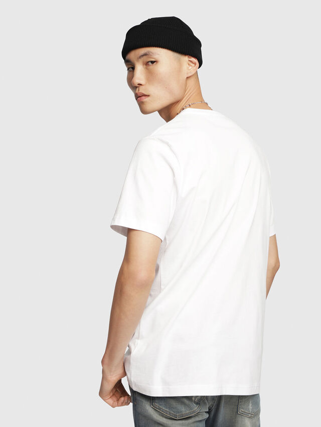 Diesel - T-JUST-DIVISION, White - T-Shirts - Image 2