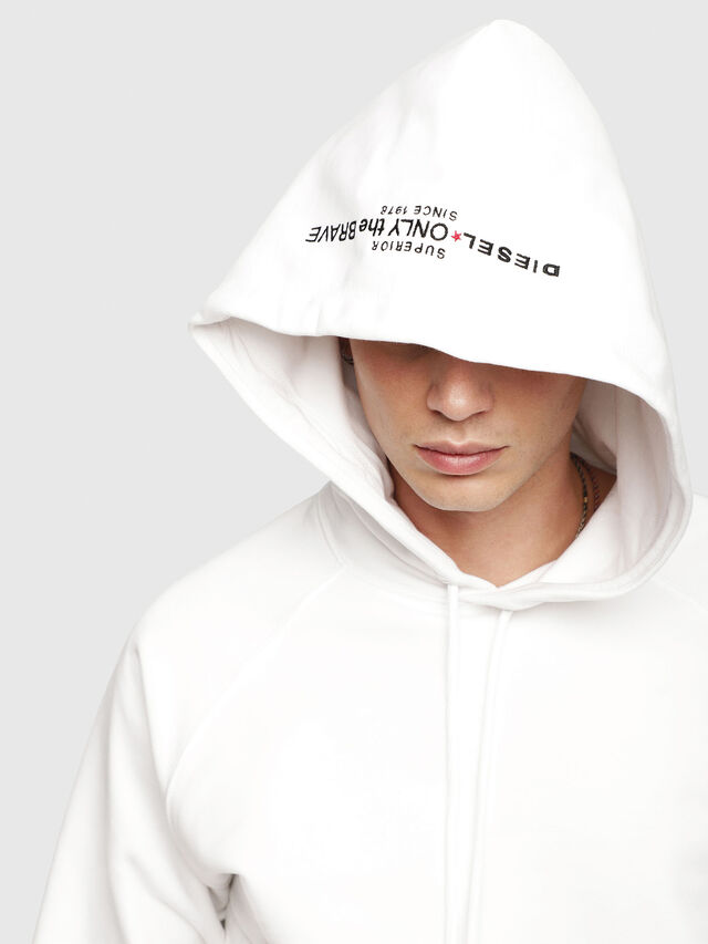 Diesel - S-GIM-HOOD-A, White - Sweaters - Image 3
