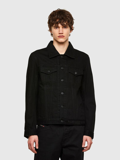 Diesel - NHILL-C1, Black - Denim Jackets - Image 1