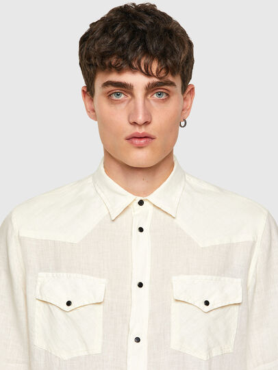 Diesel - S-EAST-LONG-LIN, White - Shirts - Image 3