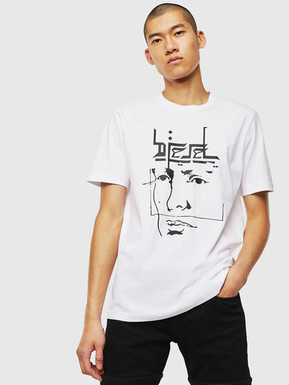 Diesel - T-JUST-J14, White - T-Shirts - Image 1