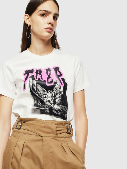 Diesel - T-SILY-YC, White - T-Shirts - Image 4