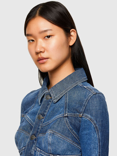 Diesel - DE-JYBRA, Medium blue - Denim Jackets - Image 3