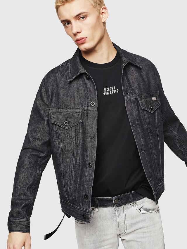 Diesel - D-BRAY, Black - Denim Jackets - Image 3