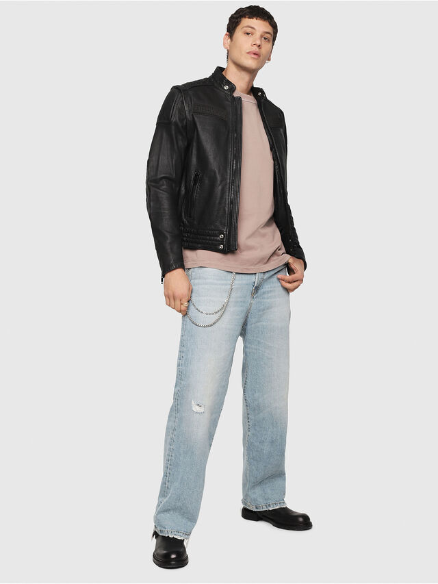 Diesel - L-YUJA, Black Leather - Leather jackets - Image 6