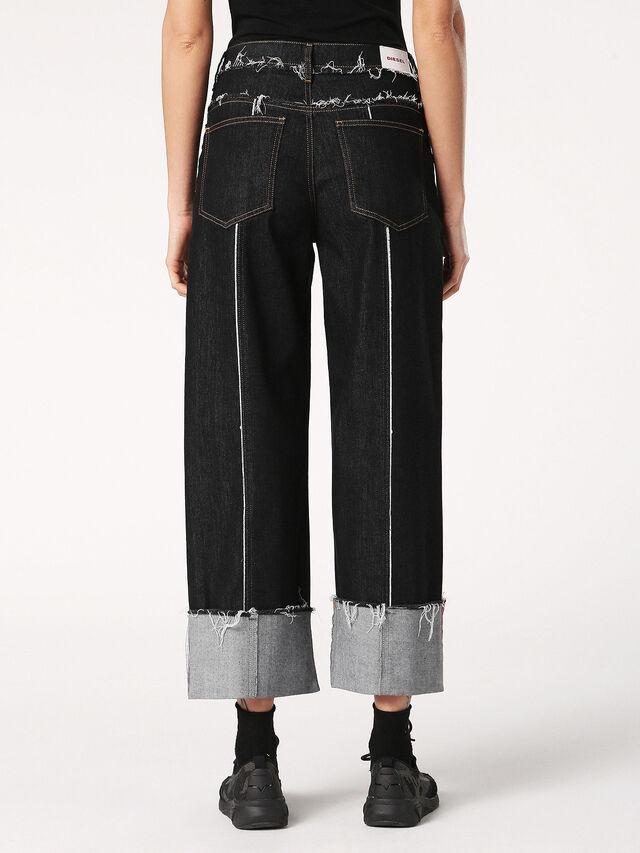 WIDEE-F 0699G, Black Jeans