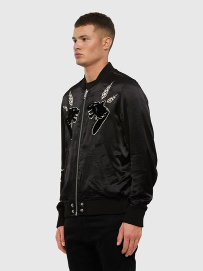 Diesel - J-SMOAK-EMBRO, Black - Jackets - Image 4