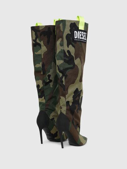 Diesel - D-SLANTY HOTK, Green Camouflage - Boots - Image 3