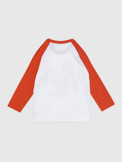 Diesel - TBALYB-R, White/Orange - T-shirts and Tops - Image 2