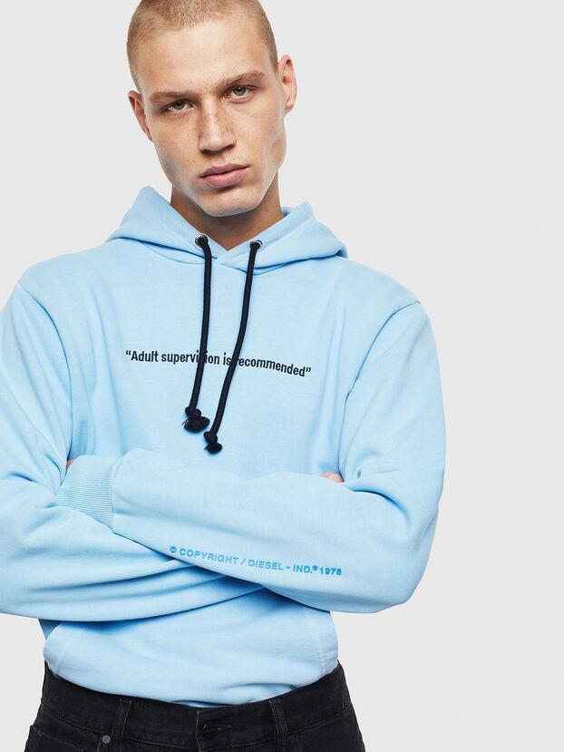 S-GIRK-HOOD-FLUO, Azure - Sweaters