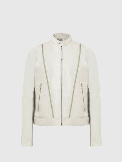 Diesel - L-CROME, White - Leather jackets - Image 1