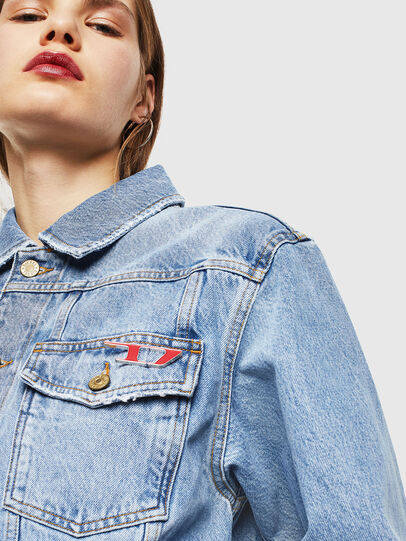 Diesel - DE-CATY, Light Blue - Denim Jackets - Image 3