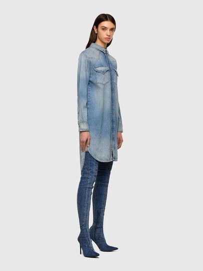Diesel - DE-BLANCHE, Light Blue - Dresses - Image 5