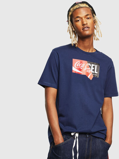 Diesel - CC-T-JUST-COLA, Dark Blue - T-Shirts - Image 1