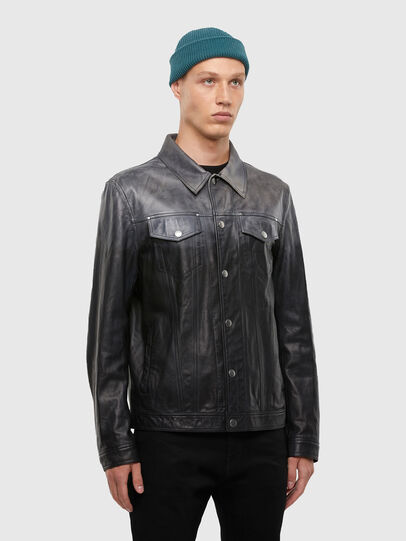 Diesel - L-NHILL-TRE,  - Leather jackets - Image 3