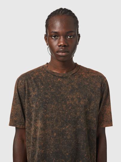 Diesel - T-JUST-SLITS-B65, Black/Brown - T-Shirts - Image 3