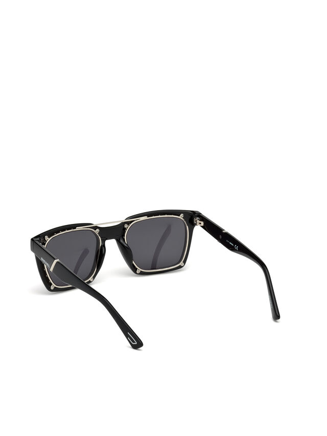 Diesel - DL0250, Bright Black - Sunglasses - Image 3