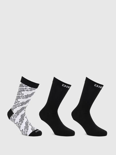 Diesel - SKM-HERMINE-THREEPAC, Black/White - Socks - Image 1