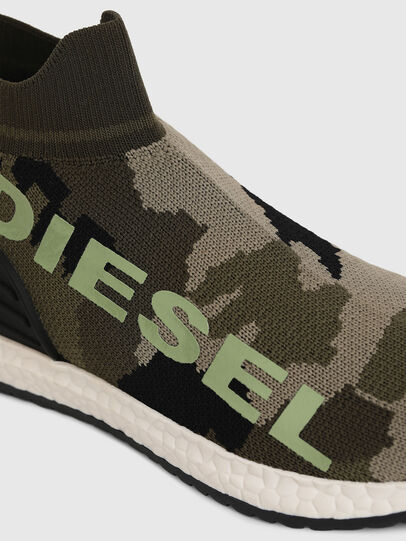Diesel - SLIP ON 03 LOW SOCK, Green Camouflage - Footwear - Image 4